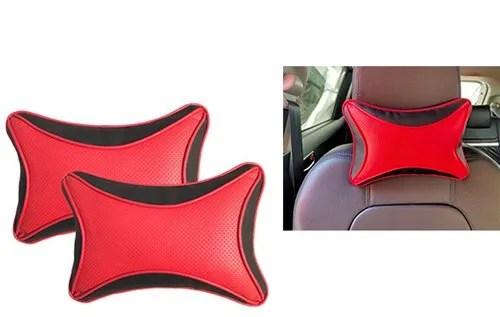 https www indiamart com proddetail feelitson 2 pcs universal leather car seat pillow neck rest cushion headrest pillow black red dot 22274298648 html