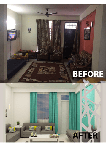 Living Room Designer With Small Budget Big Makeover In Noida IDG Homez ID 18355608530