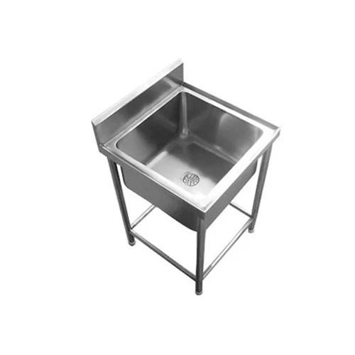 stain steel sink table