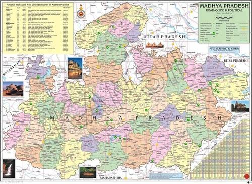 Madhya Pradesh For Political State Map  Rajnitik Rajya Nakshe     Madhya Pradesh For Political State Map