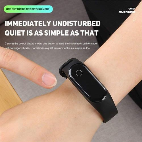Black Silicone M3 Fitness Band, Packaging Type: Box, for Gym
