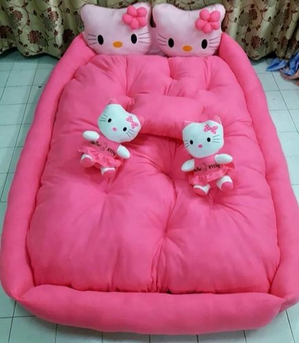 double pillow cartoon character bed a