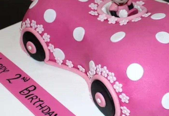 Mickey Minnie Cake Disney Minnie Mouse Car Shaped Cake Bakery