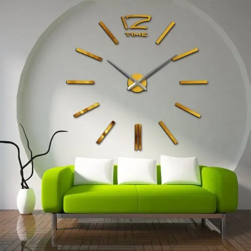 Luxurious Big Wall Clock Hotels Restaurants 3d Acrylic Sticker Modern Art Wall Clock Golden At Rs 200 Piece À¤¦ À¤µ À¤° À¤• À¤˜à¤¡ The Immart Global Udaipur Id 22197126191