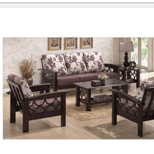 Wood sofa set designs pictures for Affordable living room furniture near me
