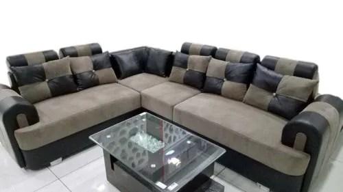 modern l shape corner sofa set