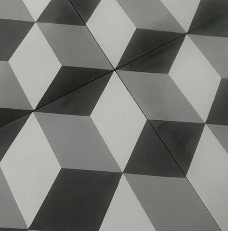 grey 3d patterned cement tiles cubit
