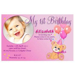 birthday invitation card matter in