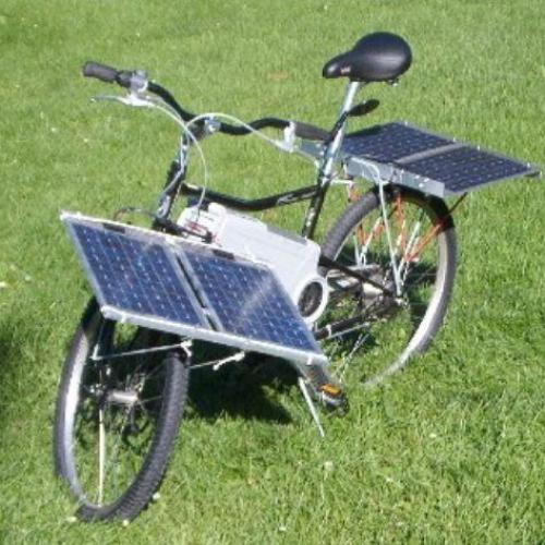 Image result for solar  bike
