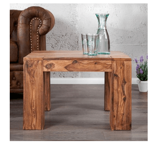 wood decor tupido coffee table 60 x 60 cms in natural