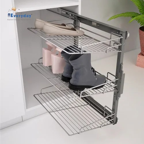 frame shoe rack pull out wire base 450