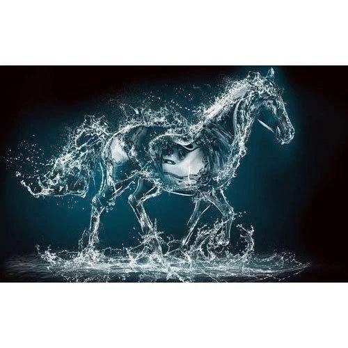 Pvc 3d Water Drop Horse Wallpaper Packaging Roll Rs 1200 Roll Id 19644196097