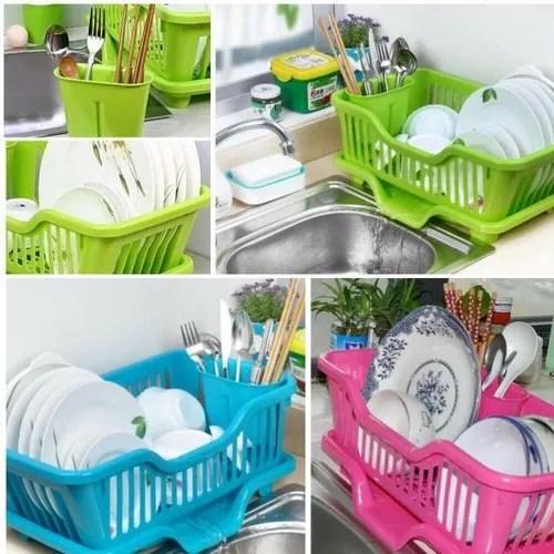 plastic sink dish drainer drying rack