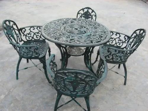cast aluminium garden chairs set