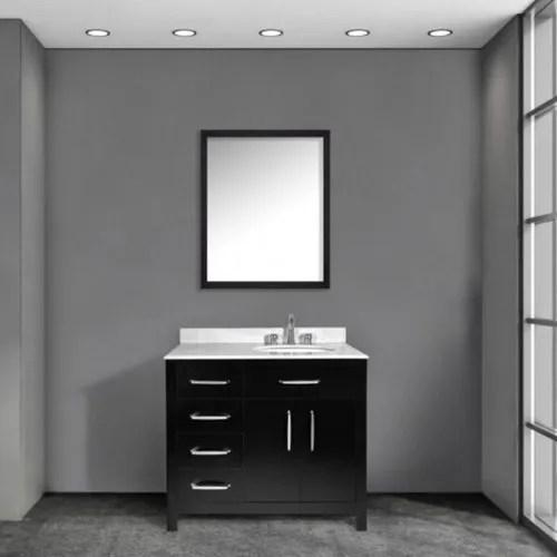 black single sink bathroom vanities