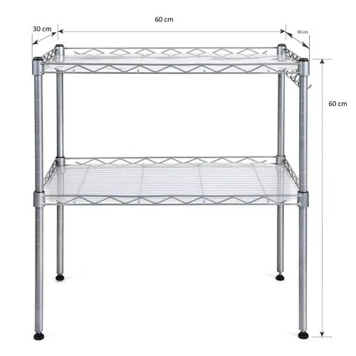 callas 2 tier height adjustable microwave oven dish rack shelf with 4 hooks