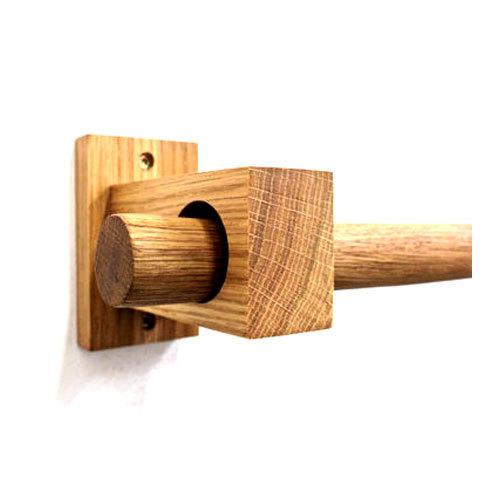 wooden curtain bracket