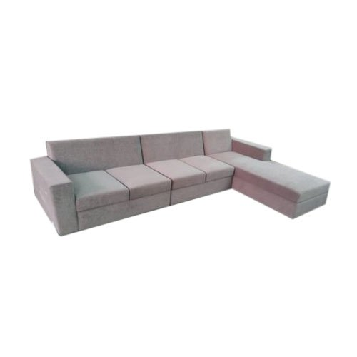 grey plain sectional sofa set