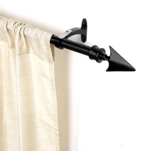 66 120 inch black matt flat arrow curtain rod