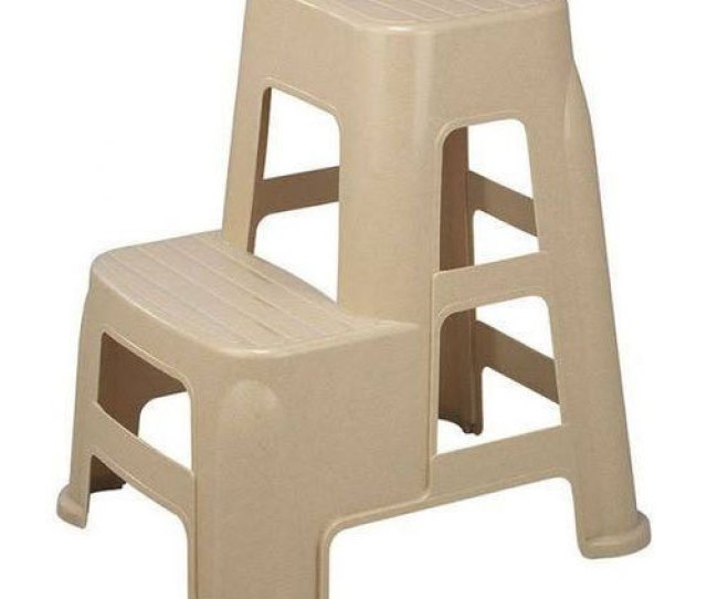 Light Brown Plastic Step Stool
