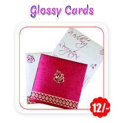 Multi Colors Wedding Cards Glossy A6 Size 300 Gsm