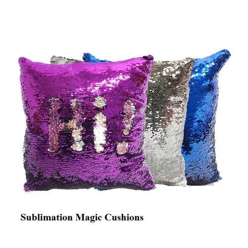 sublimation mermaid sequin pillow sublimation magic cushion