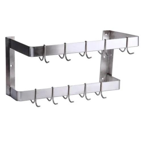 ss wall mounted pot rack