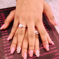 Gel Extensions With Nail Art