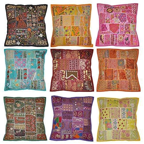 indian vintage handmade cushion cover antique pillow cases