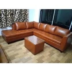 l shaped leather sofa set
