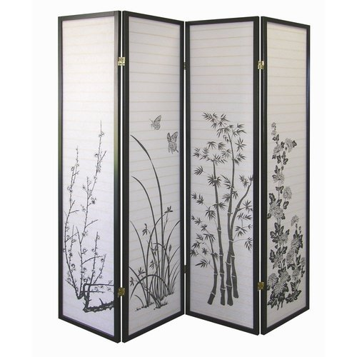 4 Panel Bamboo Floral Room Divider Screen At Rs 22000 Piece Room Divider Screen Id 16525975812