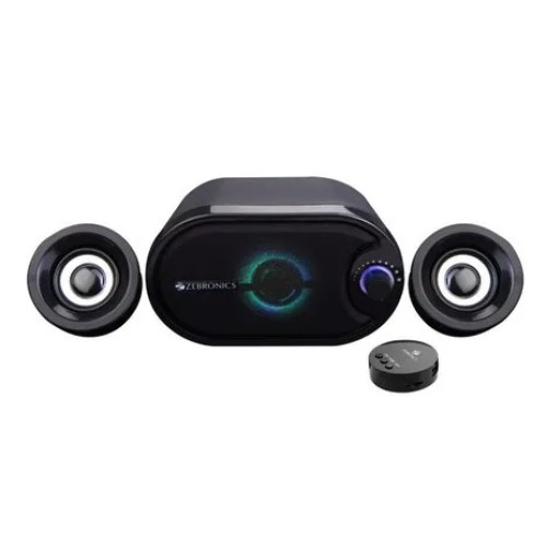 6watts Black Zebronics-Melody 2.1 Multimedia Speaker, Model Number: Zeb-melody, Desktop