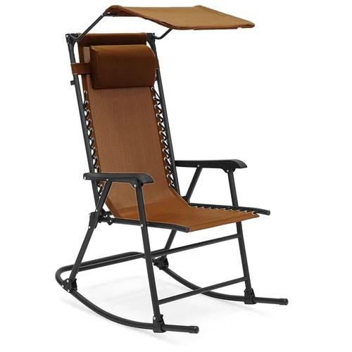 kawachi folding outdoor relax recliner rocking chair with sunshade k459