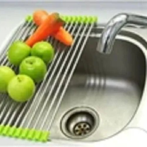 D2001 Stainless Steel Sink Folding Fruit Roll Up Over Sink Rack Kitchen Foldable Drying Drainer At Rs 255 Piece Drying Racks Id 22377144188