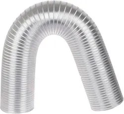sm flexible aluminium exhaust duct chimney pipe 10 ft 6 inch grey