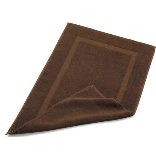 chocolate brown cotton bath mat