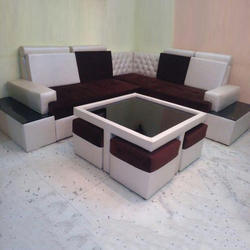 corner sofa with center table and 4 coups