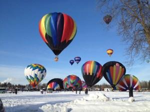 Mass of balloons