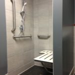 ADA tile shower installation