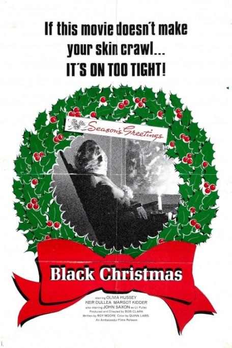 """Plakat filmu """"Czarne święta"""" z 1974 roku"""