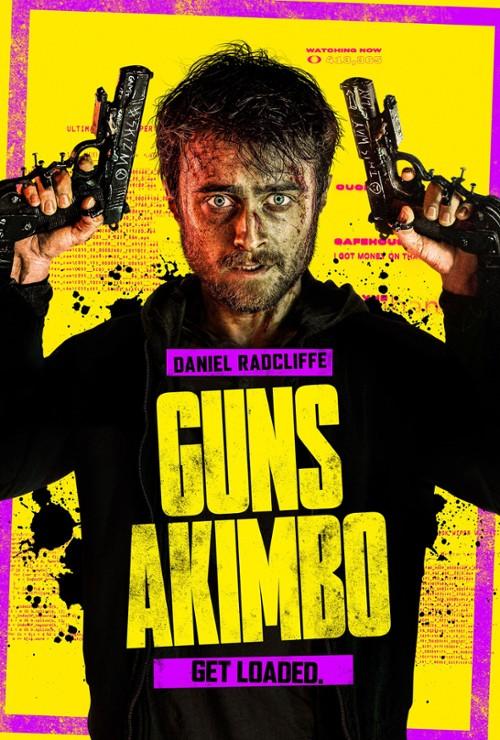 "Plakat filmu ""Guns Akimbo"" (2019)"