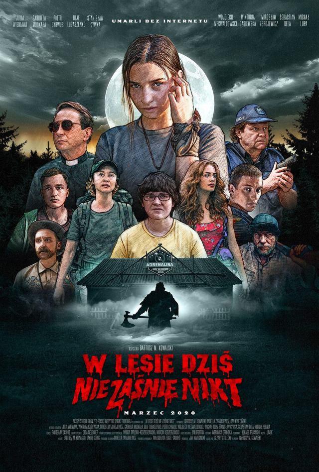 Plakat filmu W lesie dziś nie zaśnie nikt (2020)