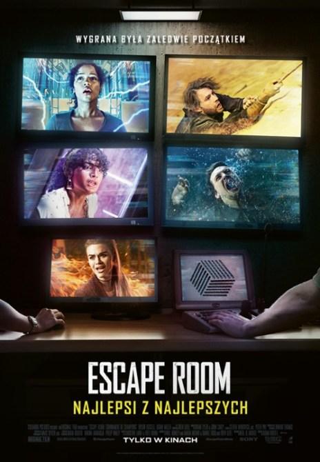 Plakat filmu Escape Room: Najlepsi z najlepszych (2021) w reżyserii Adama Robitela