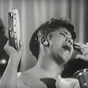 Ruth Brown, with tambourine