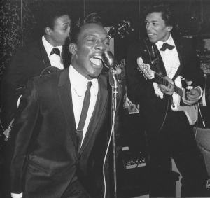 Wilson Pickett on stage in 1965 (with Jimi Hendrix on guitar)