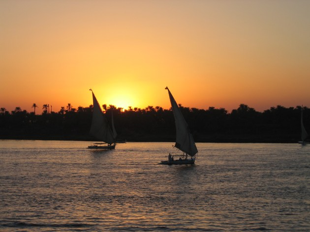 Sunset by the Nile (Photo by: Steven Griffin)
