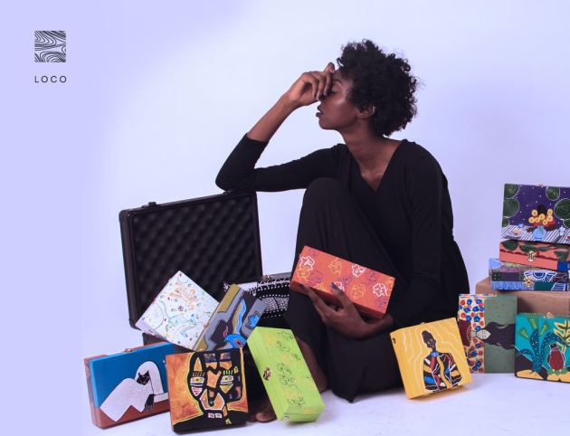 0350d25bf Art meets madness in the up-and-coming Sudanese accessories brand, LOCO  (@be_loco), boasting stylish hand-painted wooden bags and earrings made for  those ...