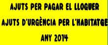ajuts pagament lloguer 2014