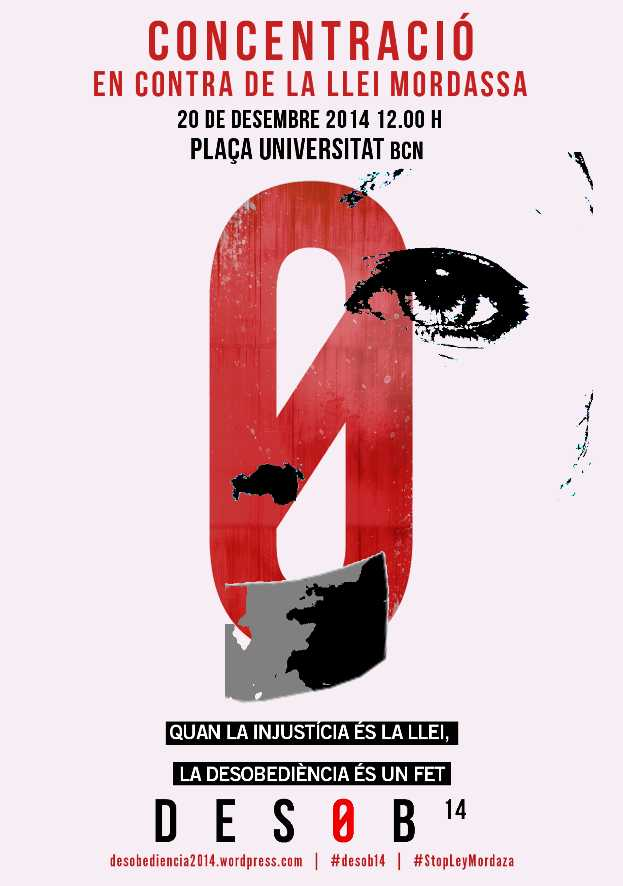 10h/12h dissabte 20 Concentració contra la llei mordassa