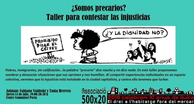 2016-07-14 cartell_taller_somos_precarios